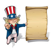 Uncle Sam I Want You Declaration — Stock Vector