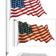 Flag Pole US Flag WWI-WWII (48 stars) — Vettoriale Stock