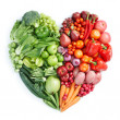 Green and red healthy food — ストック写真