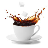 Coffee splashing — Stock fotografie