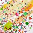 Colorful paint splatter — Stock Photo