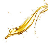 Oil splash — Stock Photo