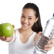 Fitness girl with healthy food — Stock Photo #29760145
