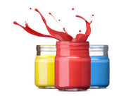 Ink in primary colors — Stock Photo