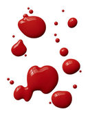 Splattered red paint — Stock Photo