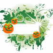 Green halloween frame — Stock Photo