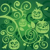 Green halloween background — Stock Photo