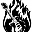 Guitar and fire — Stock Photo #18521583