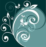 Floral curves background — Stock Photo