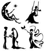 Romantic silhouettes — Stock Photo