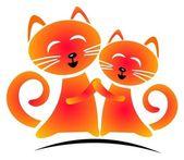 Happy cats — Стоковое фото