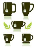 Set di tazze di tè — Foto Stock