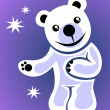 Stock Photo: White cartoon bear
