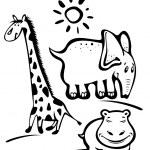 Cartoon wild animals — Stock Photo
