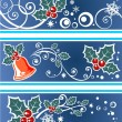 Stock Photo: Christmas pattern