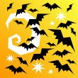 Stock Photo: Halloween bats background