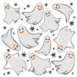 Stock Photo: Ghosts background