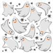 Ghosts background — Stock Photo