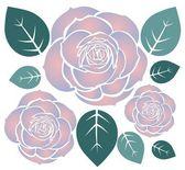 Three roses — Zdjęcie stockowe