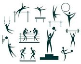Sport symbols set — Stock Photo