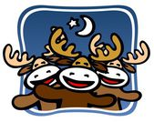 Christmas deers — Stock Photo