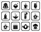 食物的符号集 — 图库照片