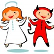 Angel and devil — Stock Photo