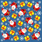 Santa and gift background — Stock Photo
