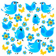 Blue birds background — Stock Photo