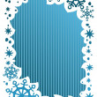 Blue Christmas frame — Stock Photo