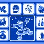 Christmas icons set — Stock Vector #36689743