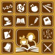 Stock Vector: School icons set