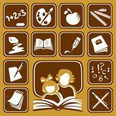 School icons set — Stock Vector