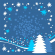 Blue winter background — Stock Photo