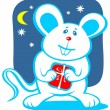 Cartoon christmas mouse — Stock Photo #37208157