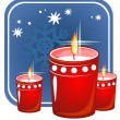 Christmas candles — Foto de stock #37208653