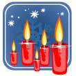 Christmas candles — Stock Photo #37208725