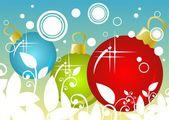 Christmas balls background — Stock Photo