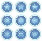 Snowflakes set — Fotografia Stock