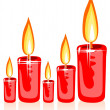 Christmas candles — Foto de stock #37974721