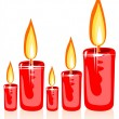Christmas candles — Stock Photo #37974721
