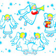 Cartoon angels — Stock Photo