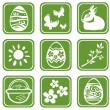 Easter symbols set — Stock Photo