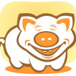 Happy piggy — Stock Photo