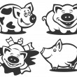 Cartoon piggies — Stock Photo