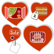 Stock Photo: Conceptual hearts