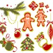 Christmas symbols set — Stock Photo