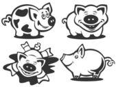 Cartoon piggies — Stock Photo