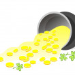 Leprechaun gold — Stock Photo