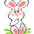 Stock Photo: Timid easter rabbit